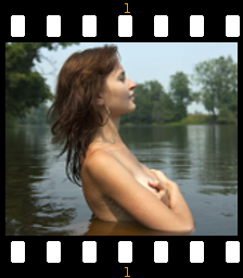 naked girl in lake
